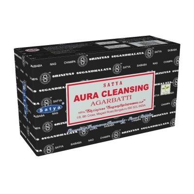 12 pakjes aura cleansing wierook satya gt