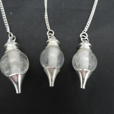 Bergkristal bol met zilveren punt