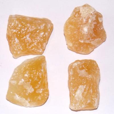 Calcite jaune brute