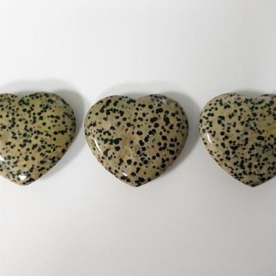 Dalmatier jaspis 6 cm puffed nieuw