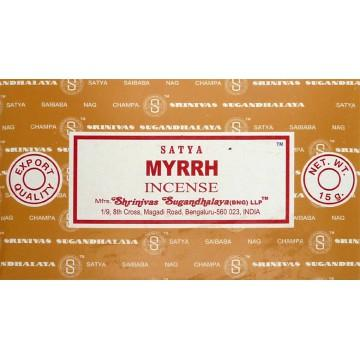 Encens batons satya myrrh 15 g