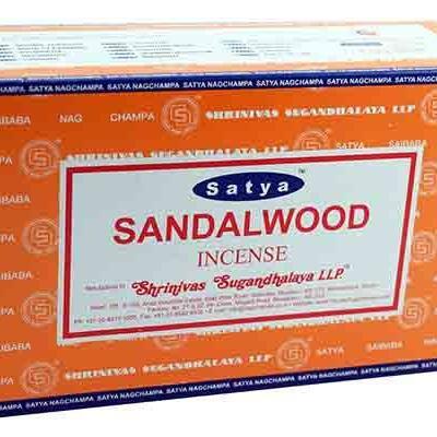 Incense sticks satya nag champa sandalwood hand rolled masala incense sticks 15g x 1 box 875 p