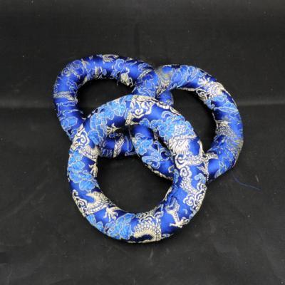 Klankschaal ring bollen houder blauw 10 cm