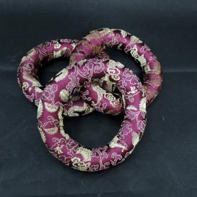 Klankschaal ring bollen houder paars 12 cm