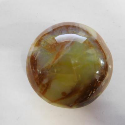 Massage schijf groene opaal madagaskar rond