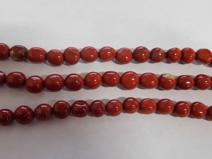 Rode jaspis nuggets 8 12 mm