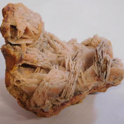 Rose chalcedoon met dolomiet ruw nieuw