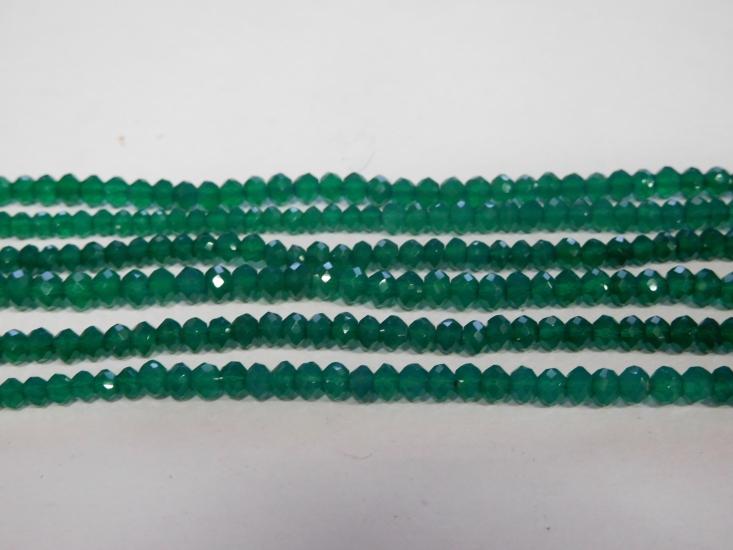 Smaragd coins gefacetteerd 4 mm