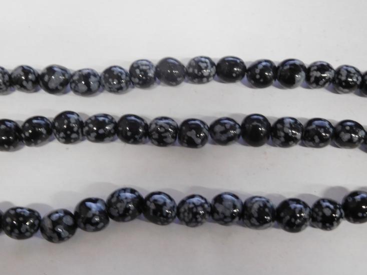 Sneeuwvlok obsidiaan 10 12 mm