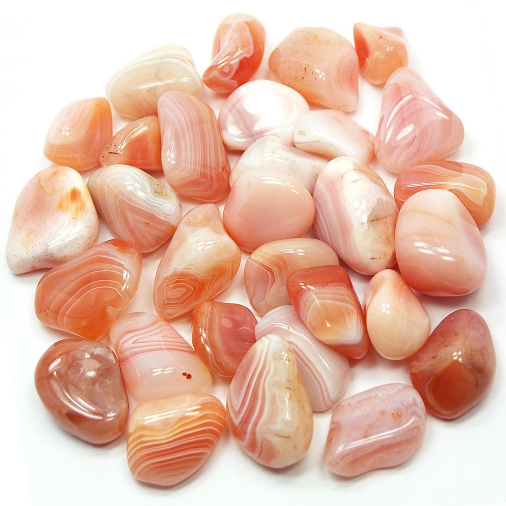 Tumbled peach agate botswana tumbled stones 04