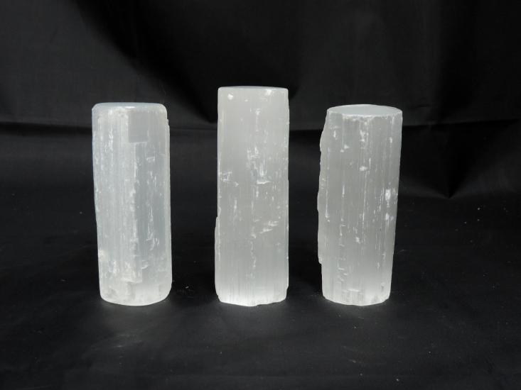 Witte seleniet cilinder 11 cm