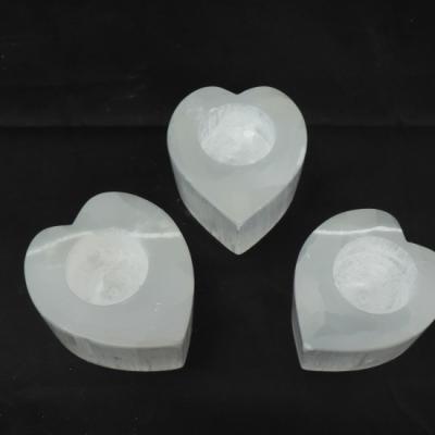 Witte seleniet hart nieuw