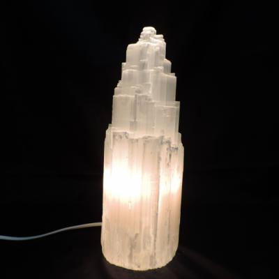 Witte seleniet lamp rots 3 4 kg 2