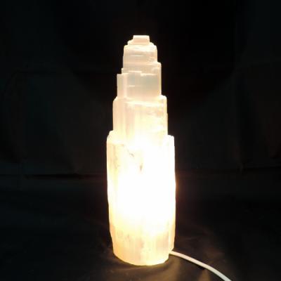 Witte seleniet lamp rots 8