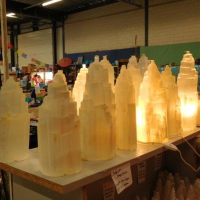 Witte seleniet lamp rots nieuw