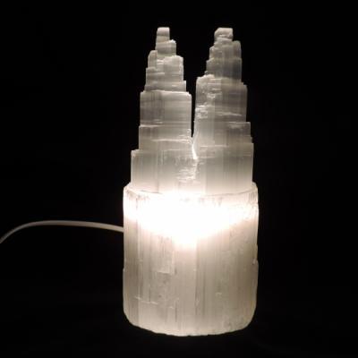 Witte seleniet lamp tweeling toren 2