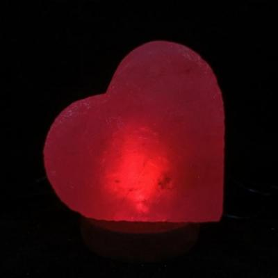 Zoutlamp led hart rood nieuw 1